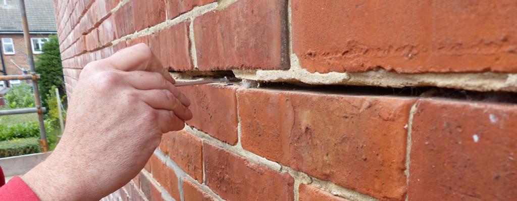 wall tie cracks